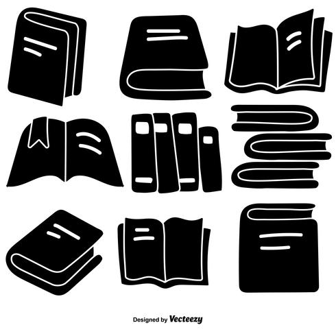 Vektor handgezeichnete Stil Buch Icons Set