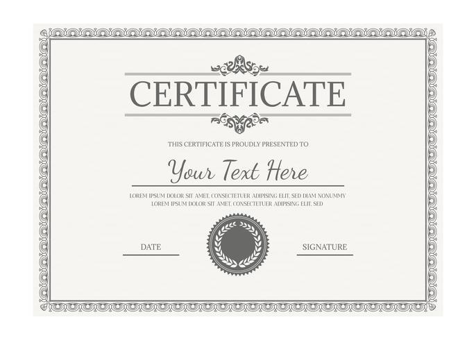 Vektor-Zertifikatvorlage vektor