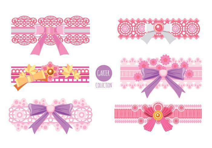 rosa garter vektor samling
