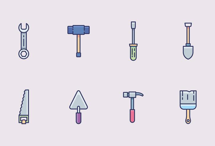 Worker-Tools-Icon-Pack vektor