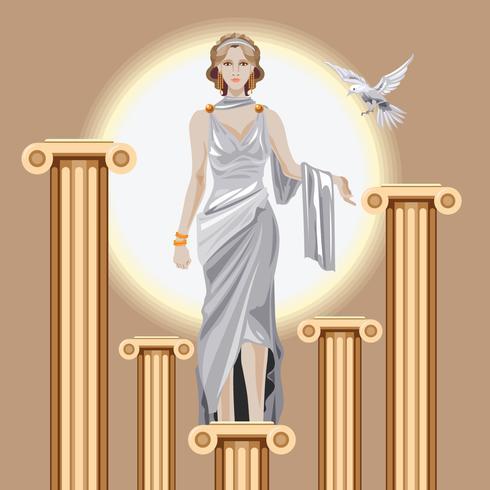 Geburt der griechischen Göttin Aphrodite vektor