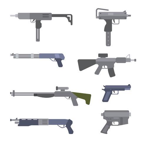 platta airsoft pistolvektorer vektor