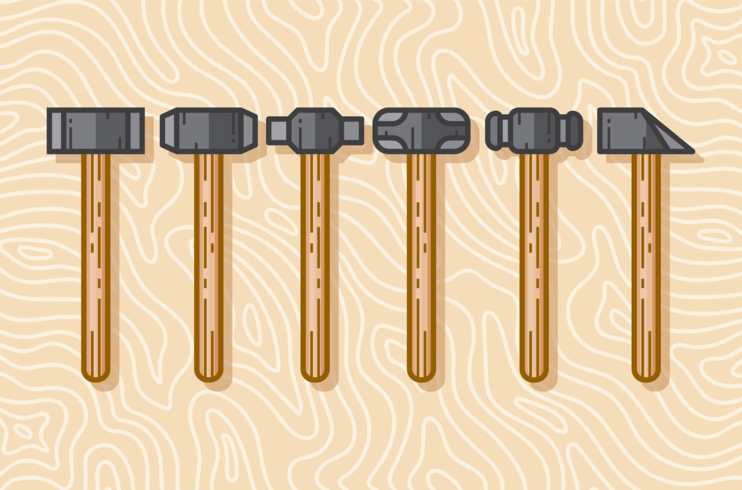 Sledgehammer Ikoner Set vektor
