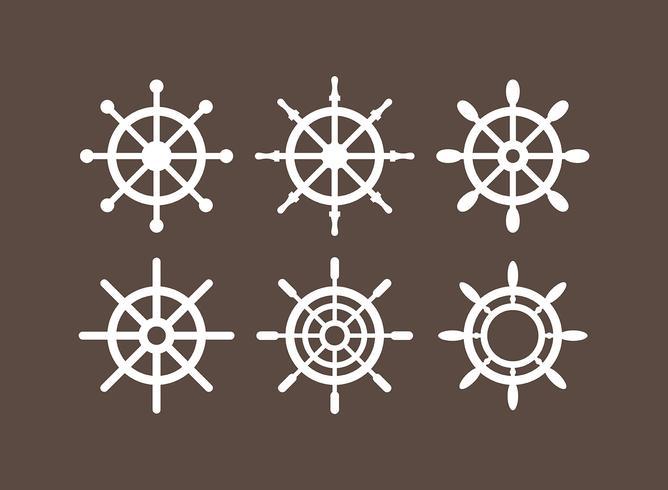 Schiffe Rad Vektoricons vektor