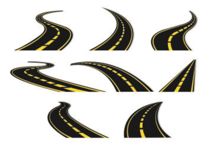 Set von Autobahn-Symbol vektor
