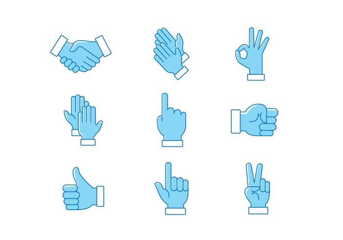 Hände klatschen Vector Pack