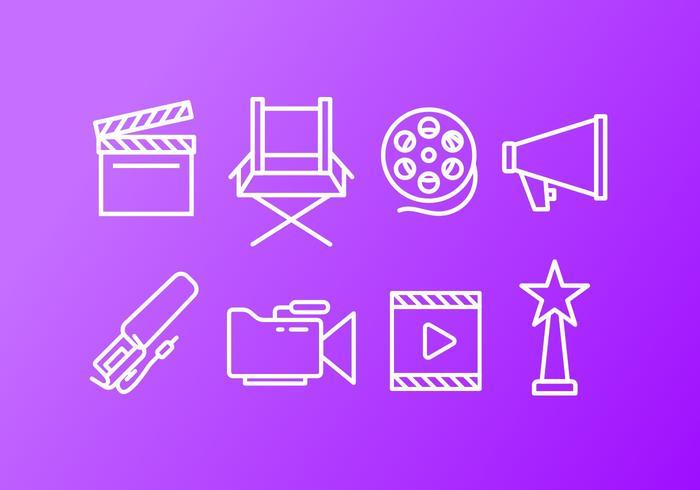 Video Creator Icon Pack vektor