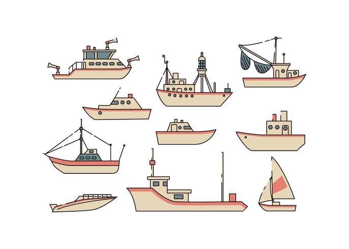 Kostenloses Schiff und Board Icon Vector