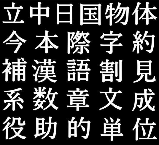 Vektor japanische Kanji Buchstaben
