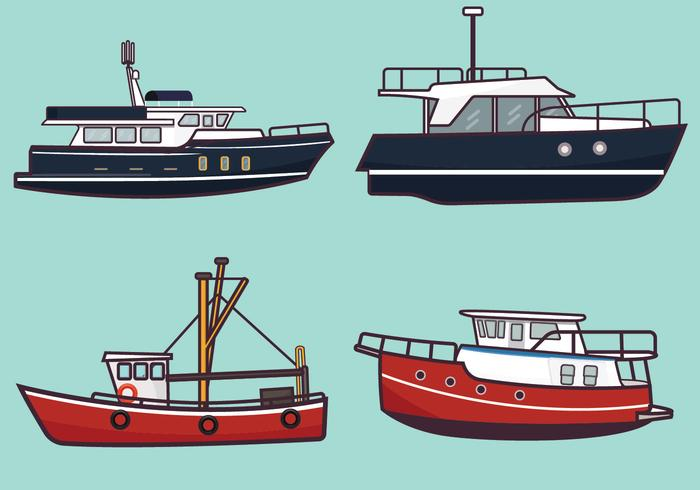 trawlervektorpaket vektor