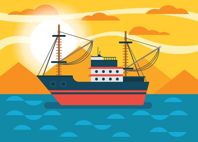 Trawler-Vektor-Illustration vektor