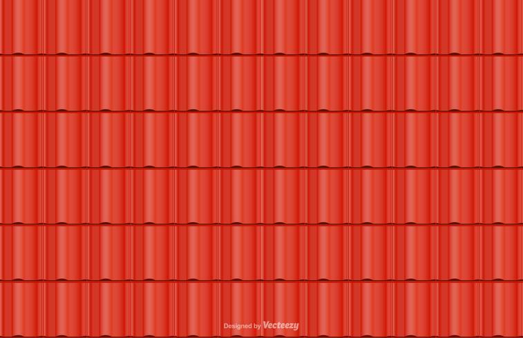 Red Roof Tile Vector Seamless Bakgrund