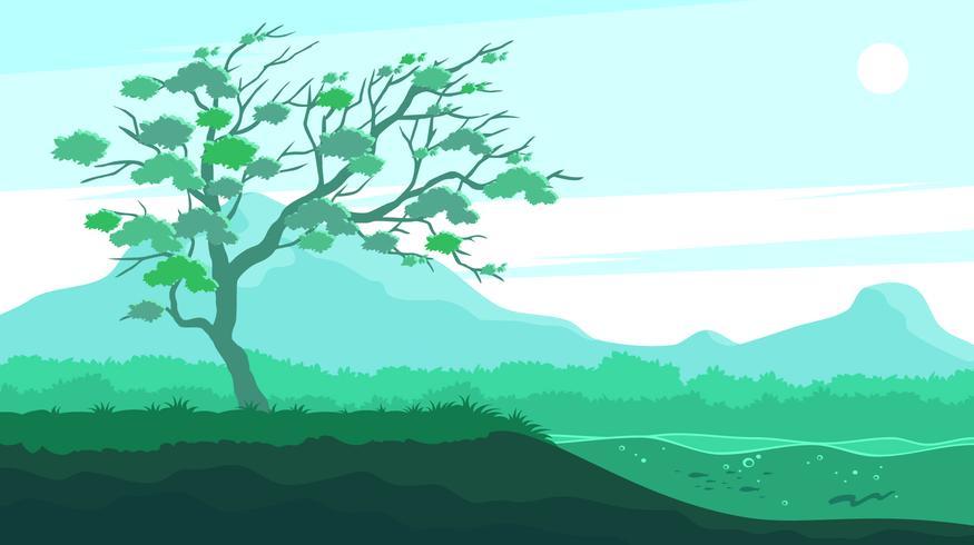 Gum Tree Vid Floden Gratis Vector