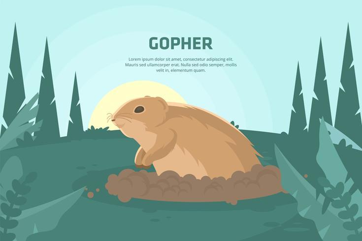 Gopher-Illustration vektor