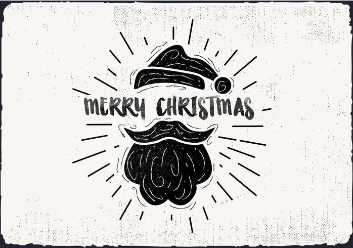 Gratis handdragen Elf Hat Vector Greeting Card