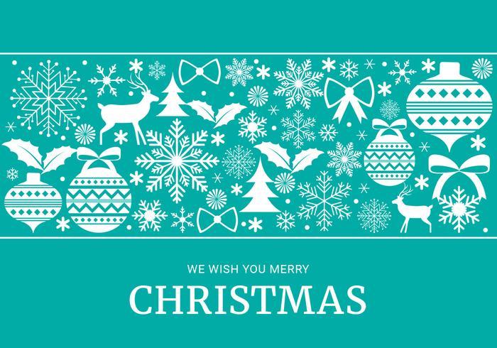 Freier Weihnachtselement-Hintergrund-Vektor vektor