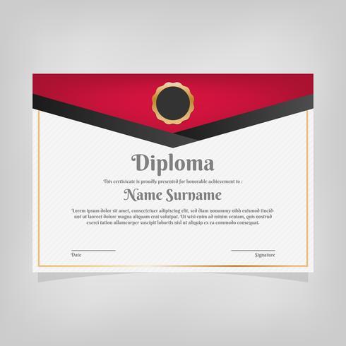 Zertifikat Vorlage Auszeichnungen Diplom vektor
