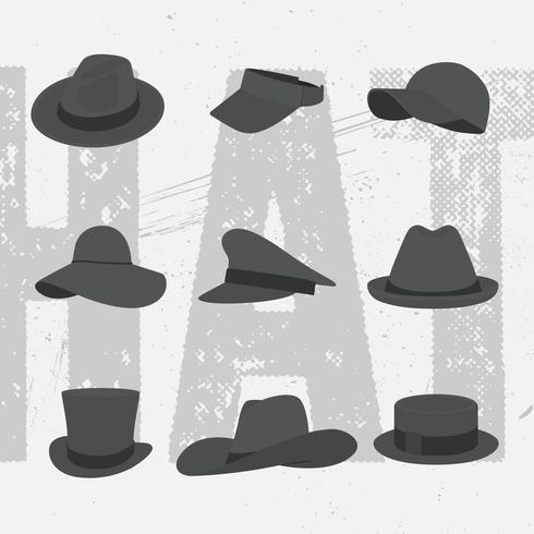 Vektor-Sammlungs-Hüte vektor