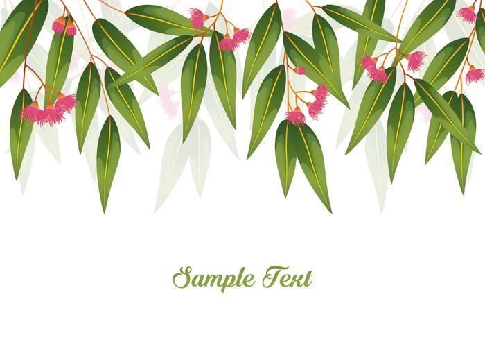 Gummi-Baum-Hintergrund-Illustration vektor