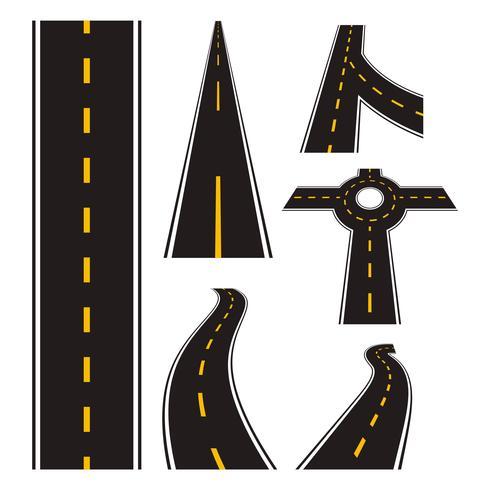 Autobahn-Straßen-Vektor vektor