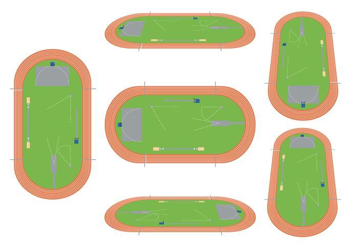 Leichtathletik-Vektor-Set vektor