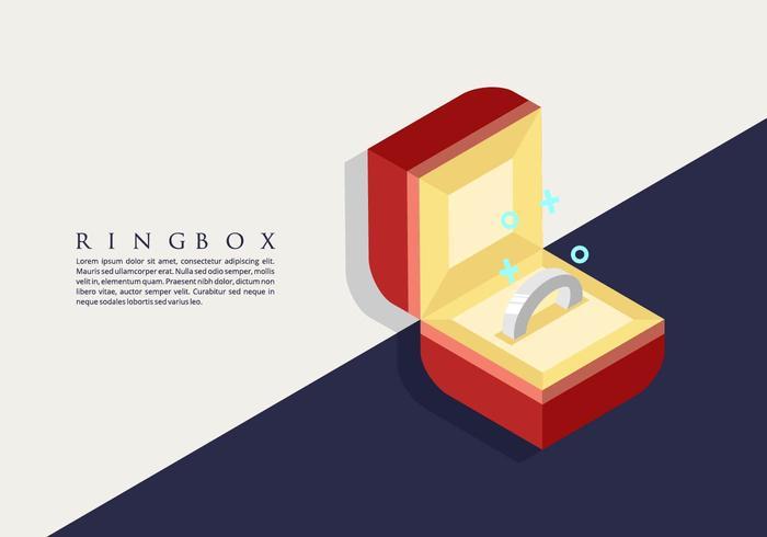 Ring Box Hintergrund vektor