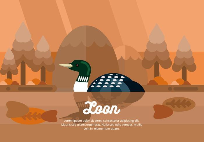 loon illustration vektor