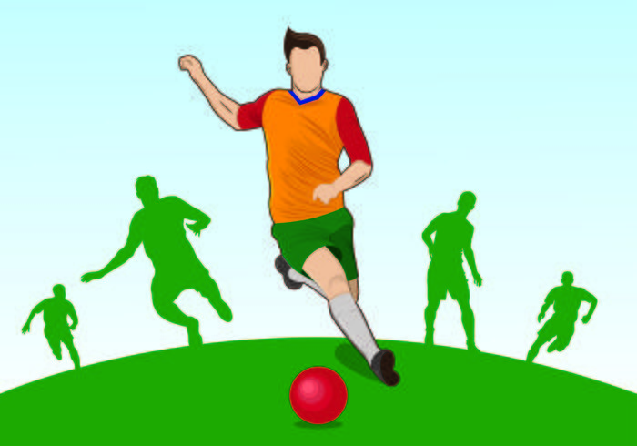 Illustration av Kickball Spelare vektor