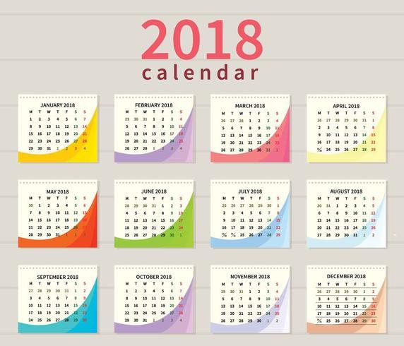 Kostenlose druckbare Kalender Illustration vektor