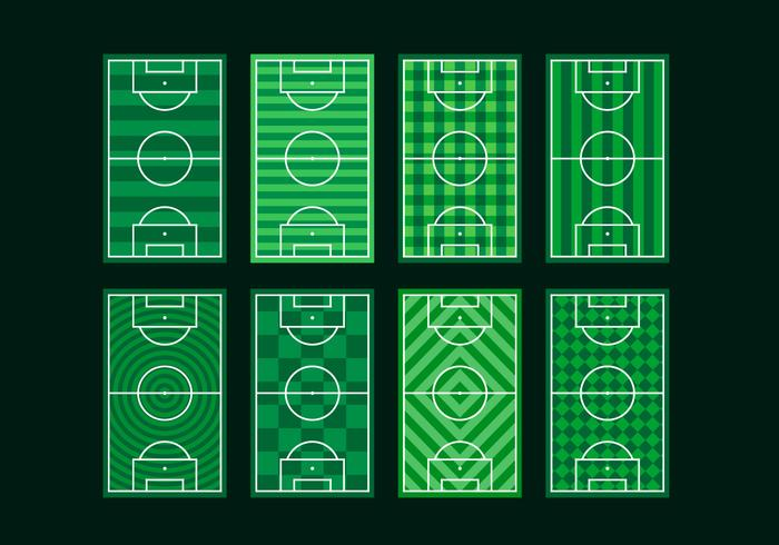 Fotbollsplan Gratis Vector