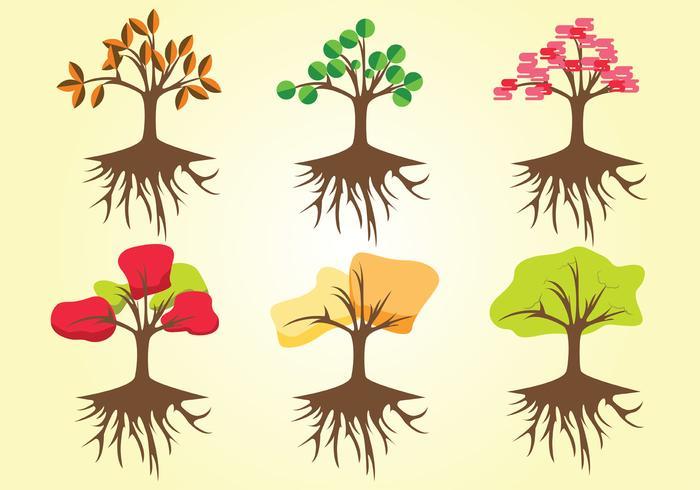 Baum mit Wurzeln Vector Pack