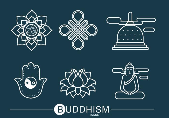 buddhism ikon vektor pack