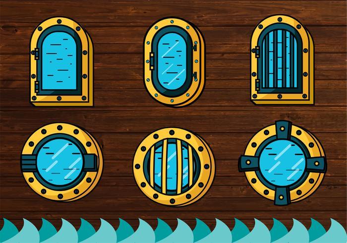 Schiff Fenster Vektor Design