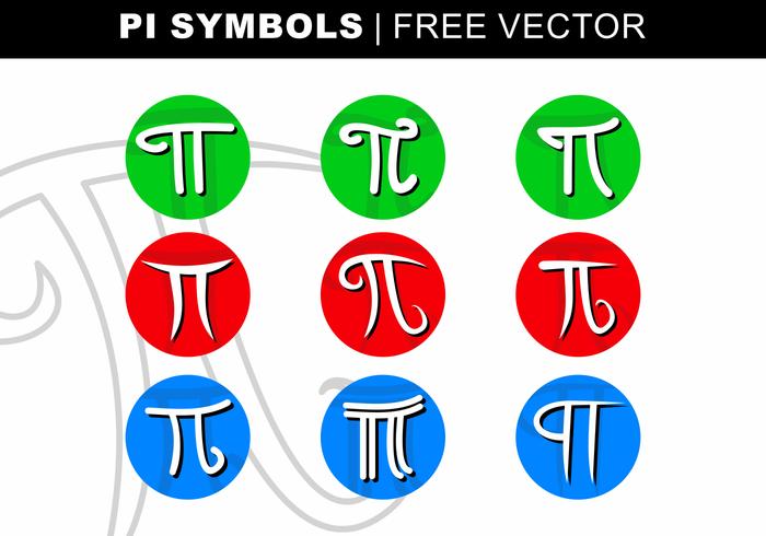 Pi Symboler Gratis Vektor