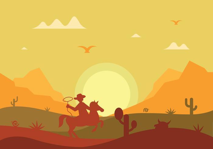 Gaucho siluett vektor illustration