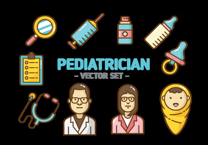 Kinderarzt Icons Vektor