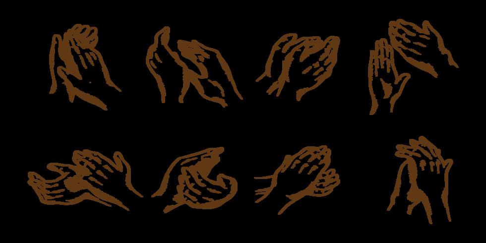 Hand gezeichnete Hände klatschen vektor