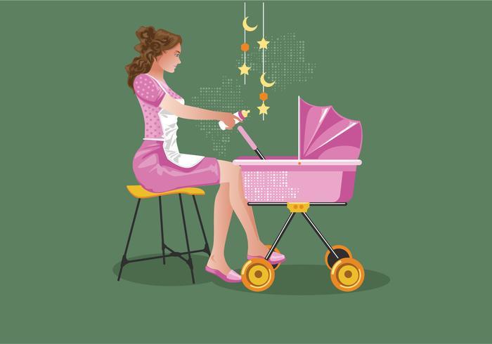 Retro Kindermädchen-Vektor vektor
