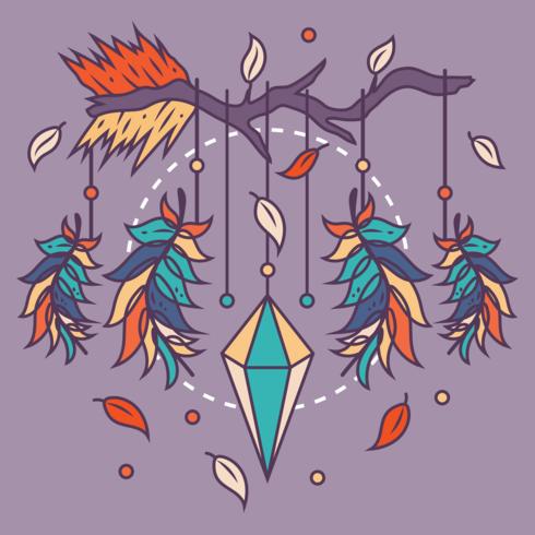 shamanism drömfångare vektor