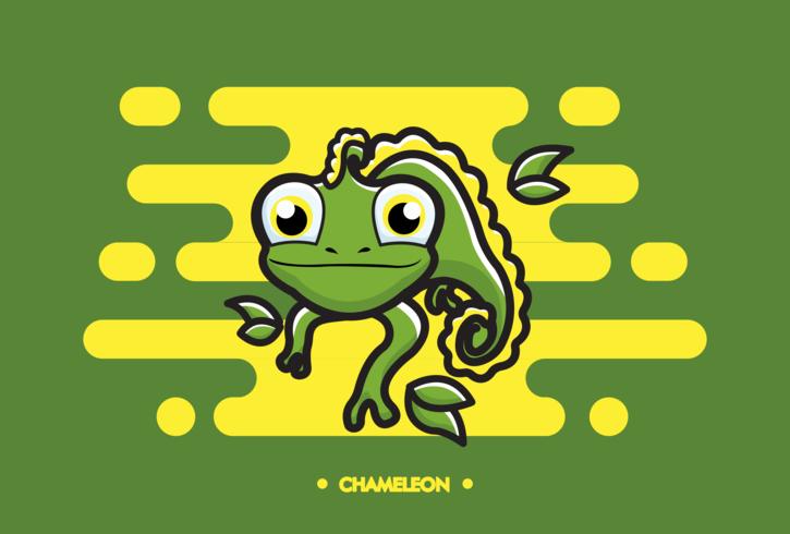 Freier Chamäleon-Vektor vektor