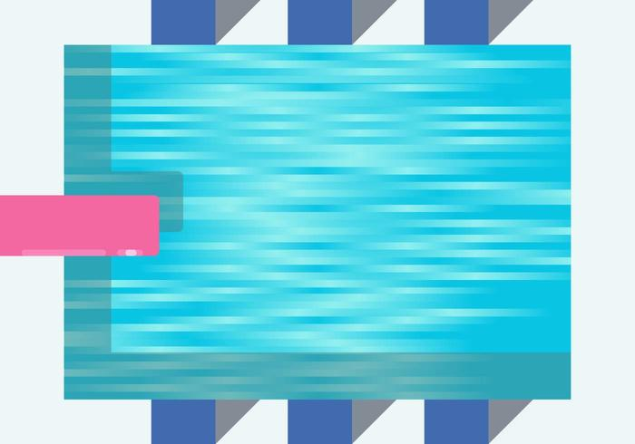 Schwimmbad-Vektor vektor