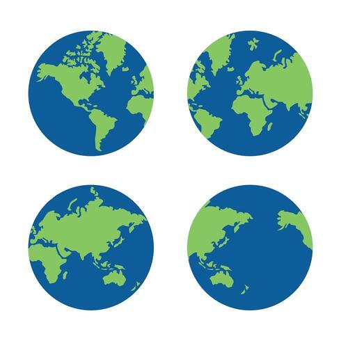 Global karta vektor