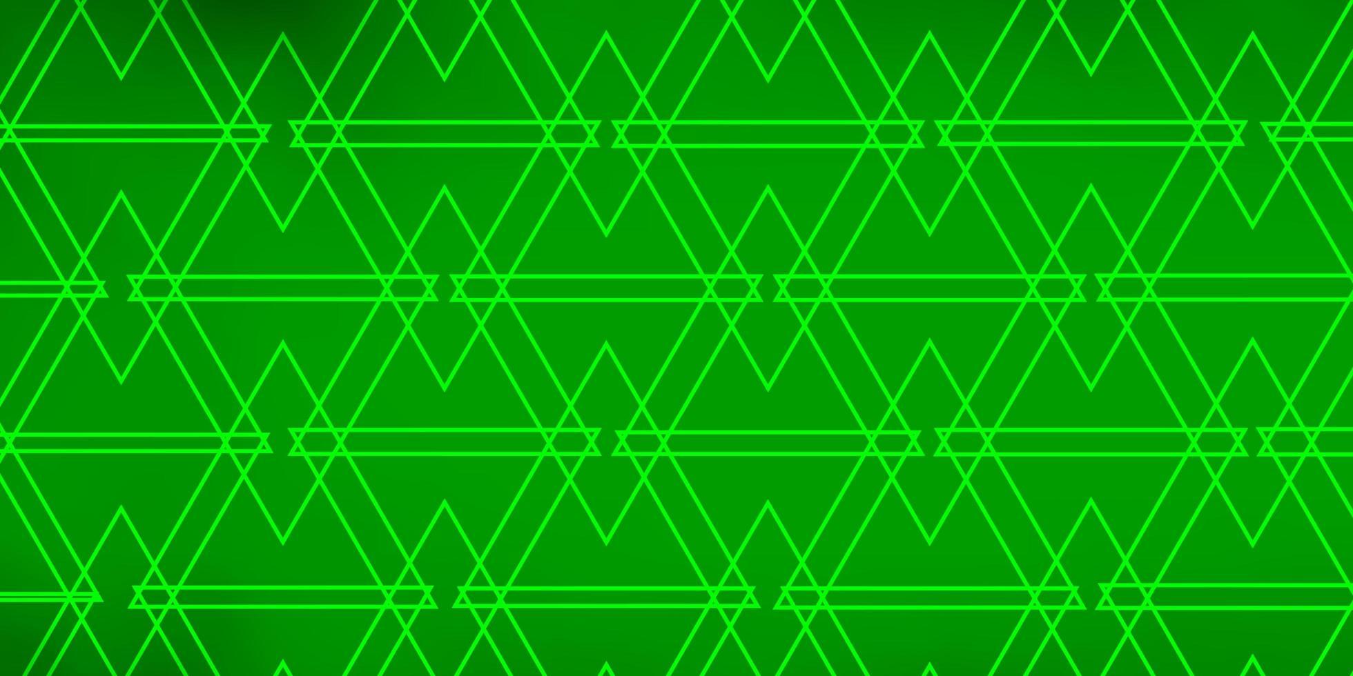 hellgrünes Layout mit Linien, Dreiecken. vektor