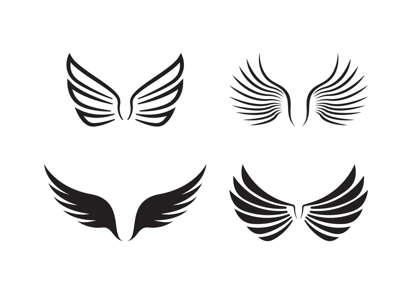 vinge ikon formgivningsmall vektor