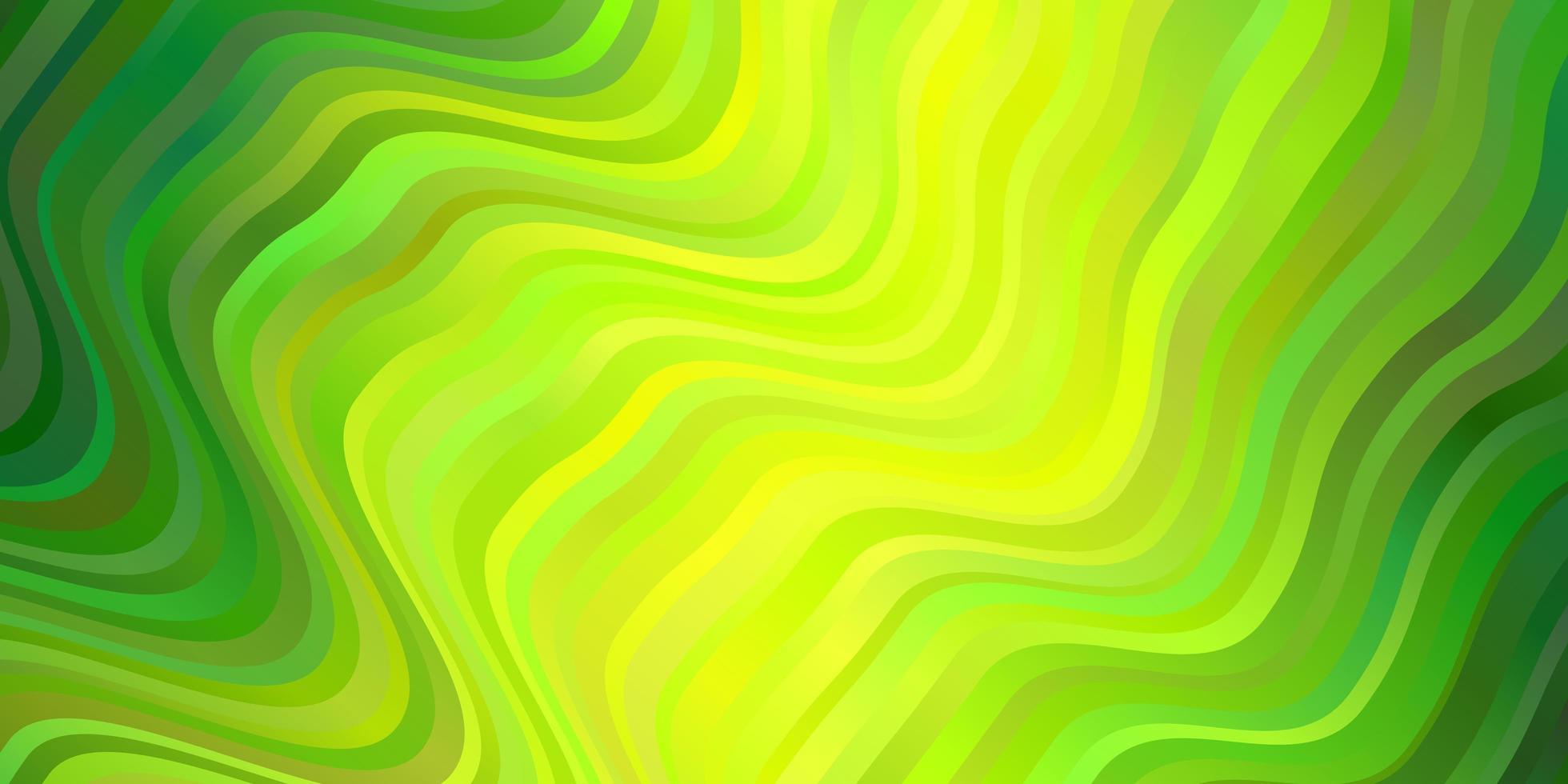grön bakgrund med böjda linjer. vektor