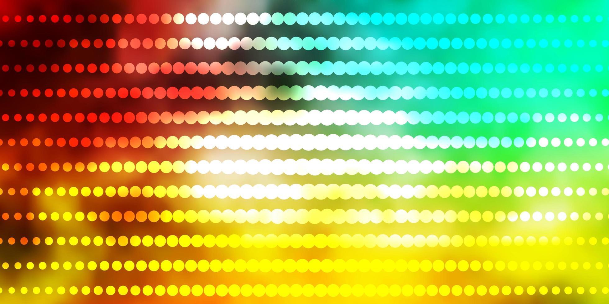 mehrfarbige Vorlage mit Kreisen. vektor