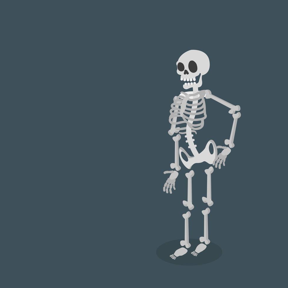 lyckligt skelett som står upp vektor