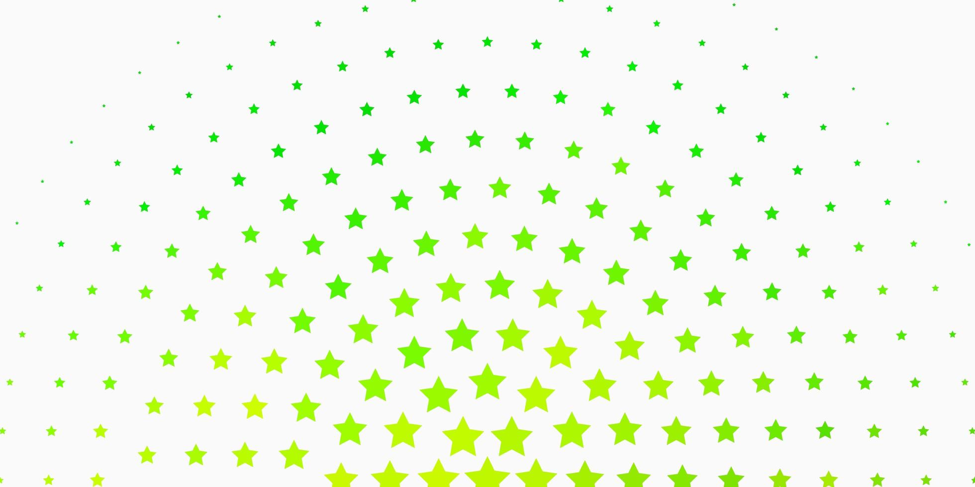 hellgrüner Hintergrund mit bunten Sternen. vektor