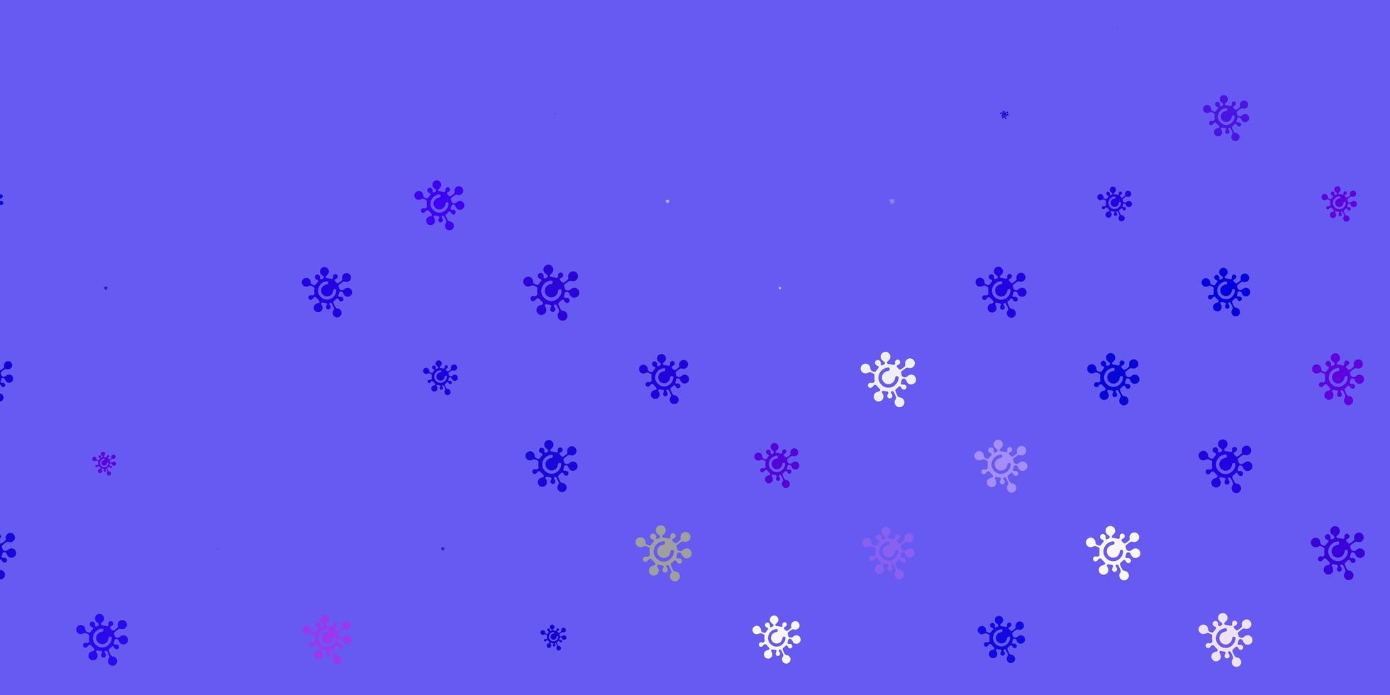 blaue, rote Schablone mit Grippezeichen. vektor