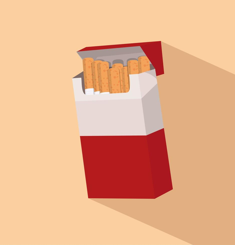 cigaretter i paket vektor